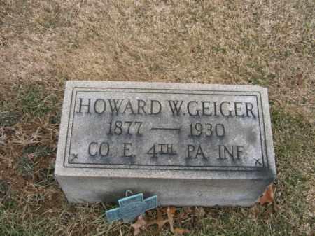GEIGER (SAW), HOWARD W. - Berks County, Pennsylvania   HOWARD W. GEIGER (SAW) - Pennsylvania Gravestone Photos