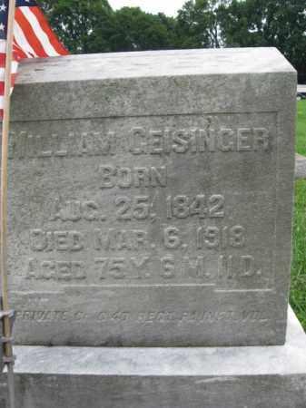 GEISINGER (CW), WILLIAM - Berks County, Pennsylvania | WILLIAM GEISINGER (CW) - Pennsylvania Gravestone Photos