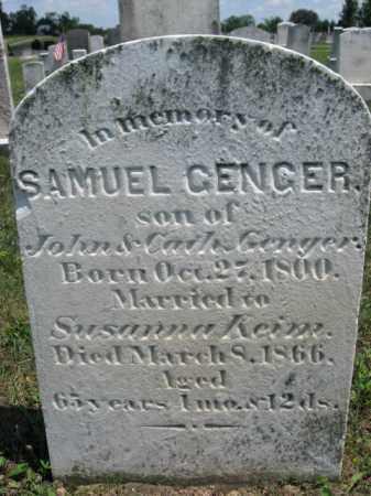 GENGER, SAMUEL - Berks County, Pennsylvania   SAMUEL GENGER - Pennsylvania Gravestone Photos