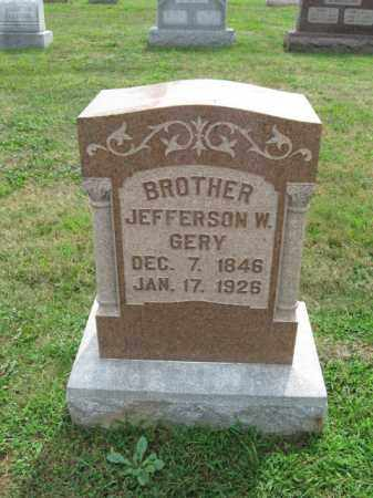 GERY, JEFFERSON W. - Berks County, Pennsylvania | JEFFERSON W. GERY - Pennsylvania Gravestone Photos