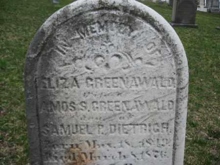 GREENAWALD, ELIZA - Berks County, Pennsylvania | ELIZA GREENAWALD - Pennsylvania Gravestone Photos