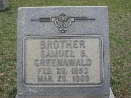 GREENWALD, SAMUEL S. - Berks County, Pennsylvania | SAMUEL S. GREENWALD - Pennsylvania Gravestone Photos