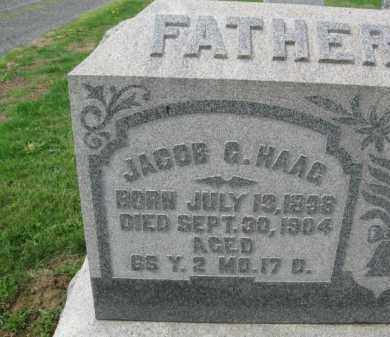 HAAG, JACOB G. - Berks County, Pennsylvania | JACOB G. HAAG - Pennsylvania Gravestone Photos