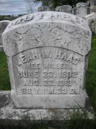 MILLER HAAG, LEAH W. - Berks County, Pennsylvania   LEAH W. MILLER HAAG - Pennsylvania Gravestone Photos
