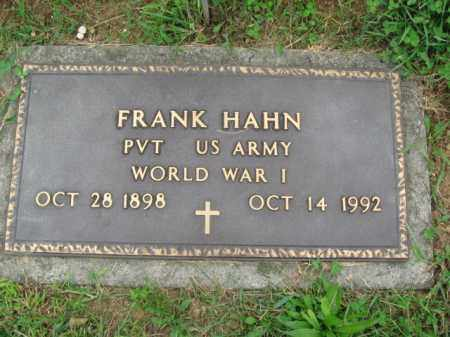 HAHN (WW I), FRANK - Berks County, Pennsylvania   FRANK HAHN (WW I) - Pennsylvania Gravestone Photos