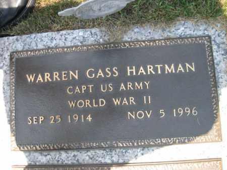 HARTMAN, WARREN GASS - Berks County, Pennsylvania | WARREN GASS HARTMAN - Pennsylvania Gravestone Photos