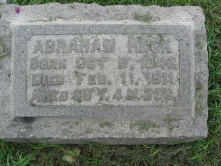HECK (CW), ABRAHAM - Berks County, Pennsylvania | ABRAHAM HECK (CW) - Pennsylvania Gravestone Photos