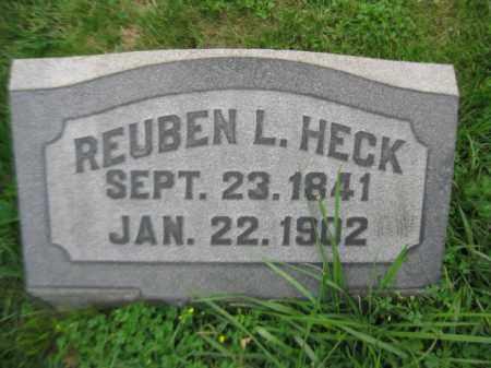 HECK, REUBEN L. - Berks County, Pennsylvania   REUBEN L. HECK - Pennsylvania Gravestone Photos