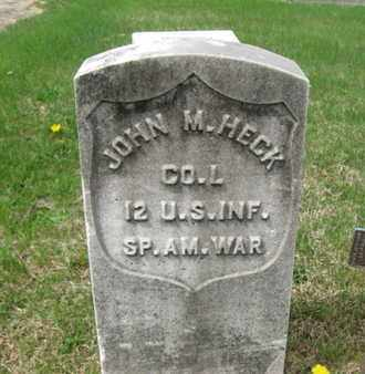 HECK (SAW), JOHN M. - Berks County, Pennsylvania | JOHN M. HECK (SAW) - Pennsylvania Gravestone Photos