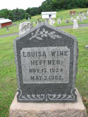 WINK HEFFNER, LOUISA - Berks County, Pennsylvania | LOUISA WINK HEFFNER - Pennsylvania Gravestone Photos