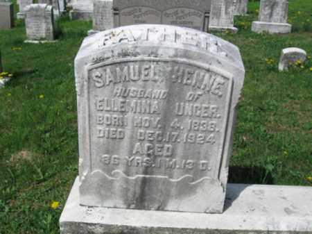 HENNE, SAMUEL - Berks County, Pennsylvania | SAMUEL HENNE - Pennsylvania Gravestone Photos