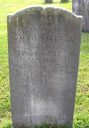 HIETER, SARA - Berks County, Pennsylvania | SARA HIETER - Pennsylvania Gravestone Photos