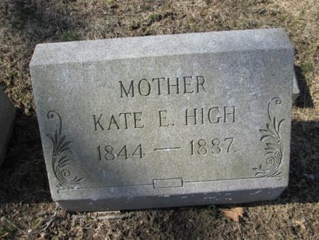 HIGH, KATE - Berks County, Pennsylvania   KATE HIGH - Pennsylvania Gravestone Photos