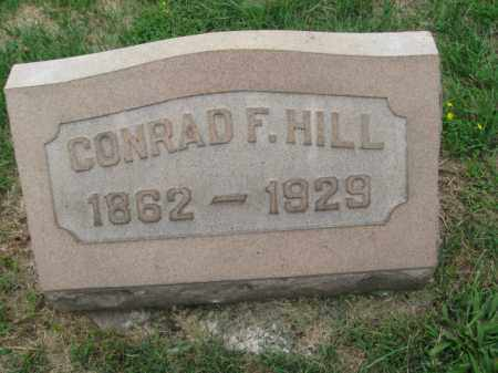 HILL, CONRAD F. - Berks County, Pennsylvania | CONRAD F. HILL - Pennsylvania Gravestone Photos