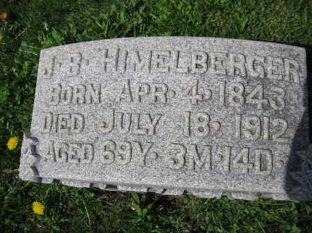 HIMELBERGER, J.B. - Berks County, Pennsylvania | J.B. HIMELBERGER - Pennsylvania Gravestone Photos