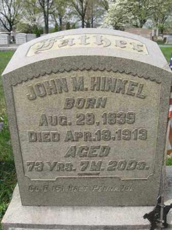 HINKEL (CW), JOHN M. - Berks County, Pennsylvania | JOHN M. HINKEL (CW) - Pennsylvania Gravestone Photos