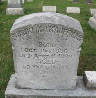 KAUFFMAN, FRANKLIN J. - Berks County, Pennsylvania | FRANKLIN J. KAUFFMAN - Pennsylvania Gravestone Photos