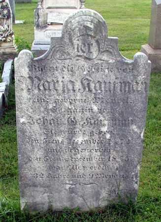 KAUFMAN, MARIA - Berks County, Pennsylvania   MARIA KAUFMAN - Pennsylvania Gravestone Photos