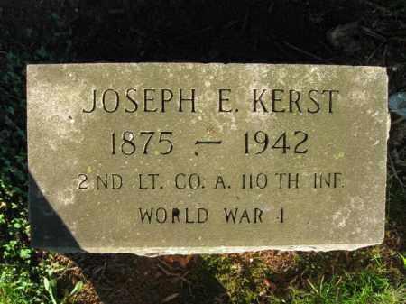 KERST (WW I), JOSEPH E. - Berks County, Pennsylvania | JOSEPH E. KERST (WW I) - Pennsylvania Gravestone Photos