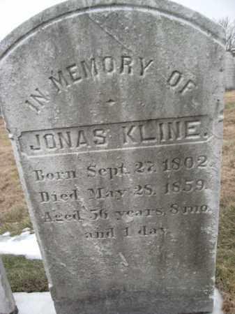 KLINE, JONAS - Berks County, Pennsylvania | JONAS KLINE - Pennsylvania Gravestone Photos