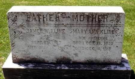POTTEIGER KLINE, MARY ANN - Berks County, Pennsylvania | MARY ANN POTTEIGER KLINE - Pennsylvania Gravestone Photos