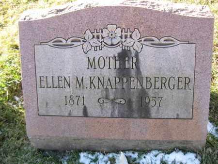 KNAPPENBERGER, ELLEN M. - Berks County, Pennsylvania | ELLEN M. KNAPPENBERGER - Pennsylvania Gravestone Photos
