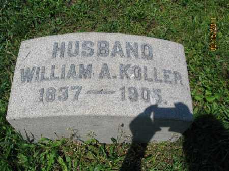 KOLLER, WILLIAM A. - Berks County, Pennsylvania | WILLIAM A. KOLLER - Pennsylvania Gravestone Photos