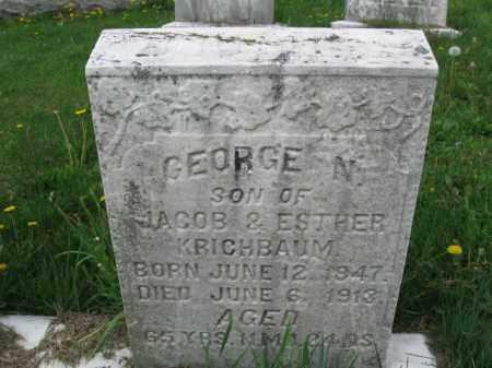 KRICHBAUM, GEORGE N. - Berks County, Pennsylvania | GEORGE N. KRICHBAUM - Pennsylvania Gravestone Photos