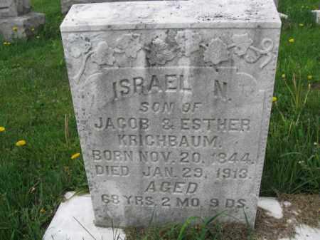 KRICHBAUM, ISRAEL N. - Berks County, Pennsylvania | ISRAEL N. KRICHBAUM - Pennsylvania Gravestone Photos