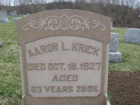 KRICK, AARON - Berks County, Pennsylvania   AARON KRICK - Pennsylvania Gravestone Photos