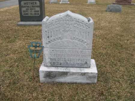 KRICK (SAW), LEWIS - Berks County, Pennsylvania | LEWIS KRICK (SAW) - Pennsylvania Gravestone Photos