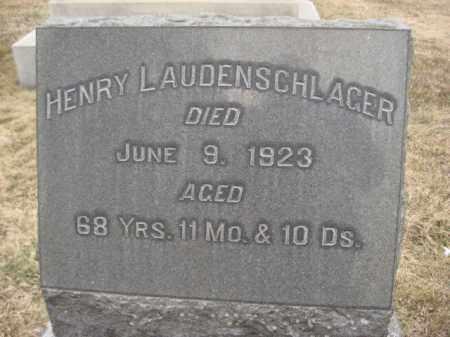 LAUDENSCHLAGER, HENRY - Berks County, Pennsylvania   HENRY LAUDENSCHLAGER - Pennsylvania Gravestone Photos