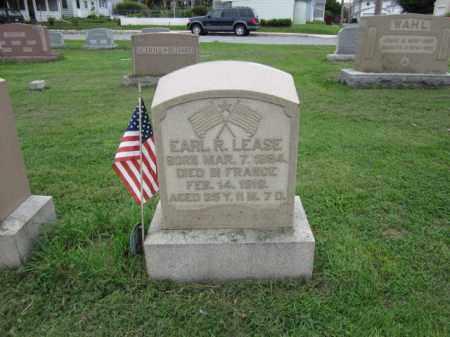 LEASE (WW I), EARL R. - Berks County, Pennsylvania | EARL R. LEASE (WW I) - Pennsylvania Gravestone Photos