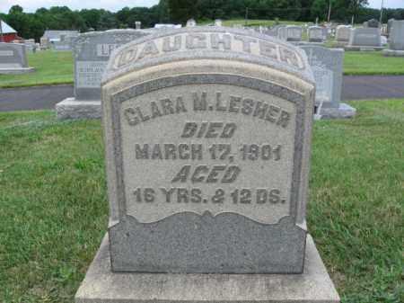 LESHER, CLARA M. - Berks County, Pennsylvania | CLARA M. LESHER - Pennsylvania Gravestone Photos
