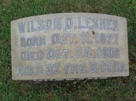LESHER, WILLIAM D. - Berks County, Pennsylvania | WILLIAM D. LESHER - Pennsylvania Gravestone Photos