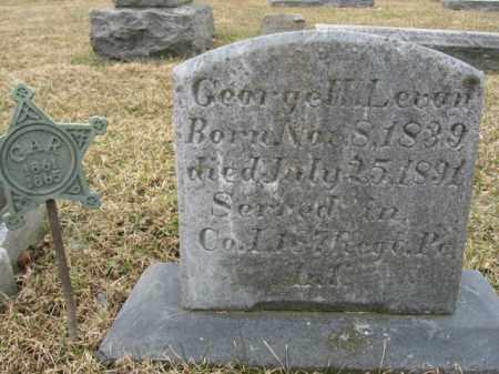 LEVAN (CW), GEORGE W. - Berks County, Pennsylvania | GEORGE W. LEVAN (CW) - Pennsylvania Gravestone Photos