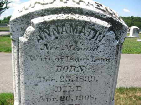 LONG, ANNA MATIN - Berks County, Pennsylvania | ANNA MATIN LONG - Pennsylvania Gravestone Photos