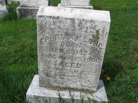 LONG, EPHRAIM H. - Berks County, Pennsylvania   EPHRAIM H. LONG - Pennsylvania Gravestone Photos