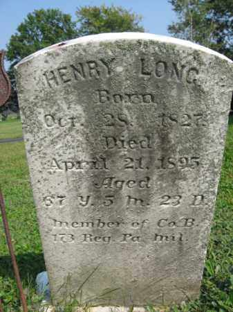 LONG, HENRY - Berks County, Pennsylvania | HENRY LONG - Pennsylvania Gravestone Photos