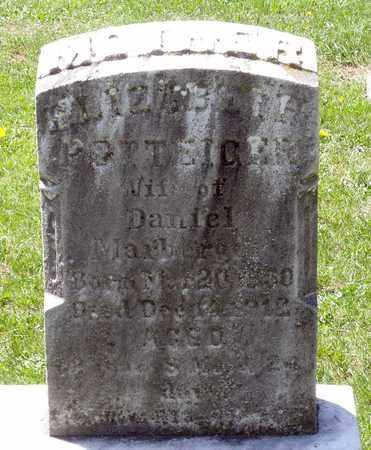POTTEIGER MARBERGER, ELIZABETH - Berks County, Pennsylvania   ELIZABETH POTTEIGER MARBERGER - Pennsylvania Gravestone Photos