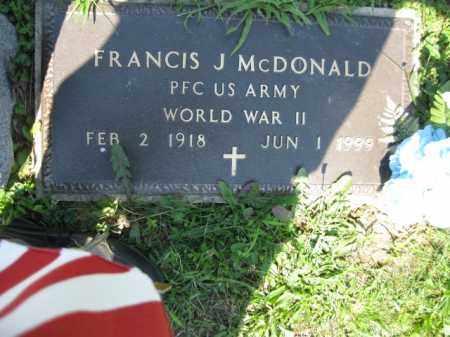 MCDONALD (WW II), FRANCIS J. - Berks County, Pennsylvania | FRANCIS J. MCDONALD (WW II) - Pennsylvania Gravestone Photos
