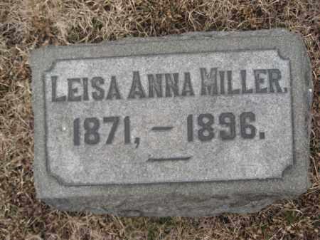 MILLER, LEISA ANNA - Berks County, Pennsylvania   LEISA ANNA MILLER - Pennsylvania Gravestone Photos