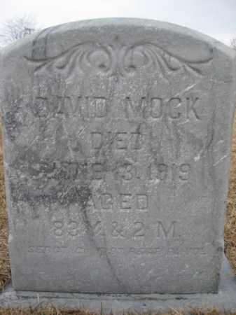 MOCK  (CW), SERGT. DAVID - Berks County, Pennsylvania | SERGT. DAVID MOCK  (CW) - Pennsylvania Gravestone Photos