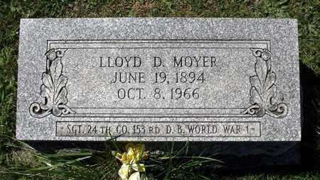 MOYER, LLOYD D. - Berks County, Pennsylvania   LLOYD D. MOYER - Pennsylvania Gravestone Photos