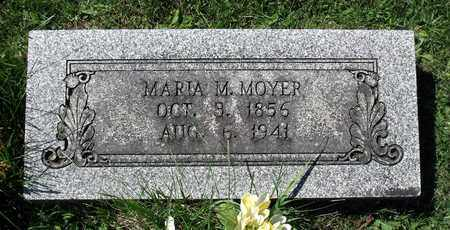 MOYER, MARIA M. - Berks County, Pennsylvania   MARIA M. MOYER - Pennsylvania Gravestone Photos