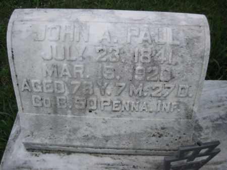 PAUL (CW), JOHN A. - Berks County, Pennsylvania | JOHN A. PAUL (CW) - Pennsylvania Gravestone Photos