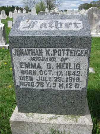 POTTEIGER, JONATHAN K. - Berks County, Pennsylvania | JONATHAN K. POTTEIGER - Pennsylvania Gravestone Photos