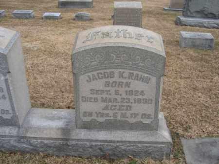 RAHN, JACOB K. - Berks County, Pennsylvania   JACOB K. RAHN - Pennsylvania Gravestone Photos