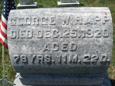 RAPP (CW), GEORGE - Berks County, Pennsylvania   GEORGE RAPP (CW) - Pennsylvania Gravestone Photos
