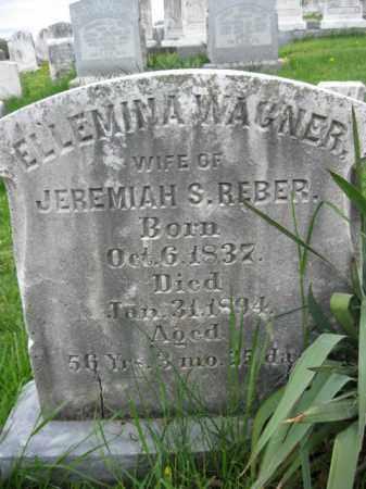 REBER, ELLEMINA - Berks County, Pennsylvania | ELLEMINA REBER - Pennsylvania Gravestone Photos